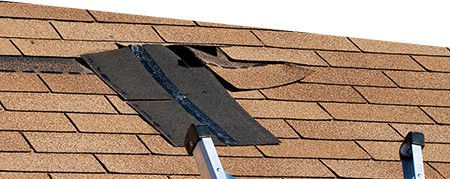 damaged roof in Central Alberta